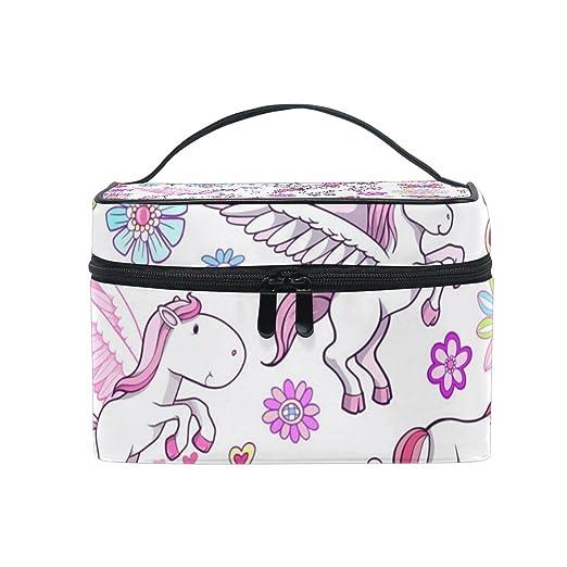 62173d3fb788 Amazon.com : OREZI Unicorn Pegasus Fairytale Spring Vector Cosmetic ...