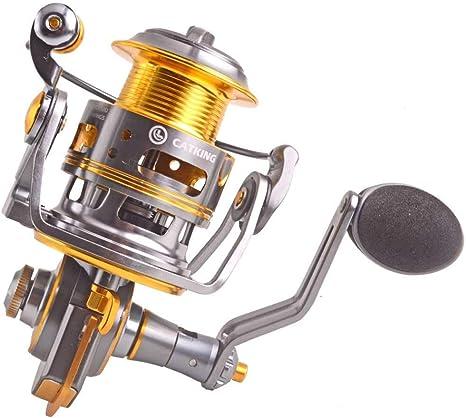 FLLH Carrete de Pesca de Metal Revolver Golden Spinning Wheel Agua Dulce Pesca de Agua Salada: Amazon.es: Deportes y aire libre