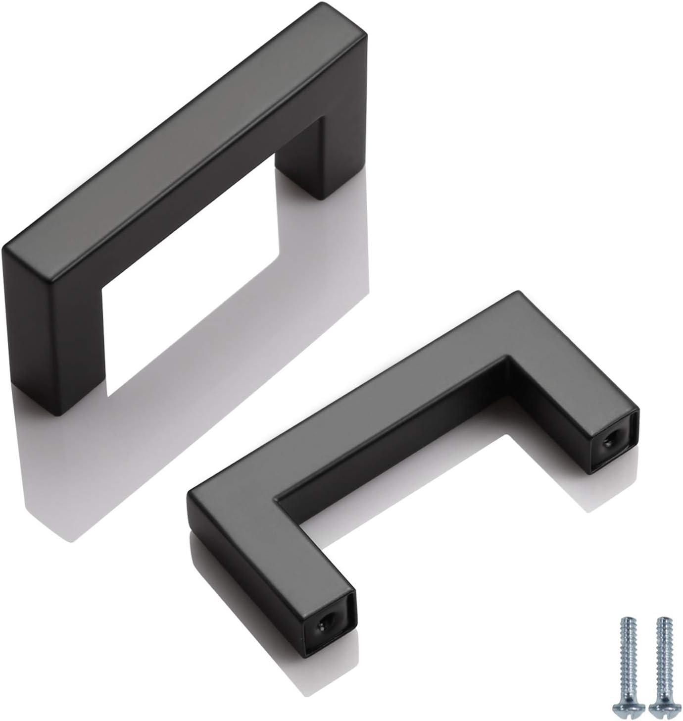 Modern Contemporary Black Cabinet Pulls Black Dresser Pulls Black Hardware Bar Pulls Black Drawer Pulls Lot of 5 Black Cabinet Handles