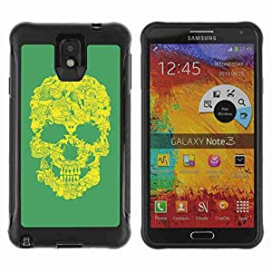A-type Arte & diseño Anti-Slip Shockproof TPU Fundas Cover Cubre Case para Samsung Galaxy Note 3 III / N9000 / N9005 ( Cool Vintage Skull Art )