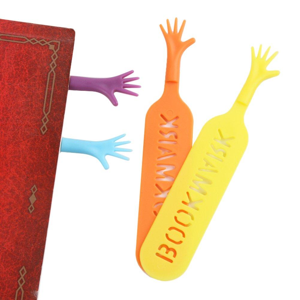 4pcs//set il segnalibro help me lovely Hand segnalibro novit/à divertente Bookworm Gift ufficio scuola cancelleria