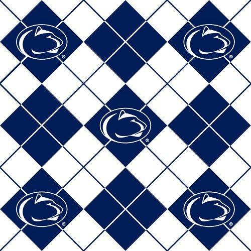 60'' Wide Collegiate Fleece Penn State University Argyle Fabric By The Yard