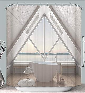 Amazon.com: Shower Curtain Classic Mezzanine loft with Big ...