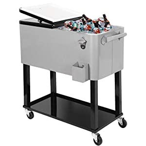 Clevr 80 Quart Qt Rolling Cooler Ice Chest