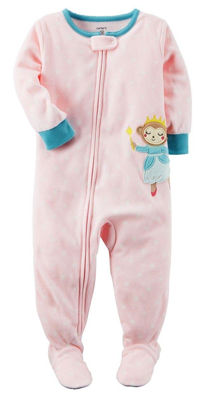 NEW Carter/'s Girls Fleece 1 Piece Pink Swan Bird PJs NWT 2T 3T 4T 5T Pajamas
