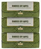 3 PACK of Nature's Dawning 100% AUTHENTIC Bamboo Wipes, Dry Multi-Purpose Wipes, 18cmx20cm- 60 Sheet 3 pack REFILL