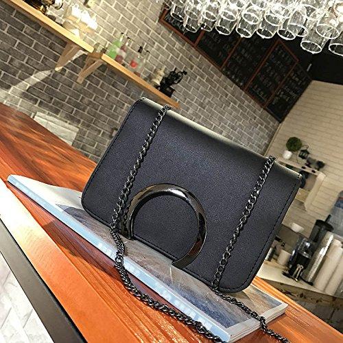 Chain Ladies Shoulder Bag Clutch Black Messenger Handbag Crossbody Leather Travel C Adealink Letter Korean Women Causal Fashion Bags UCwZCpqxF