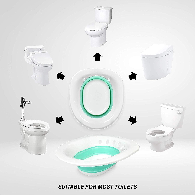 Sitz Bath for Toilet Relief for Hemorrhoids, Pregnancy, Bladder, Prostate Discomfort