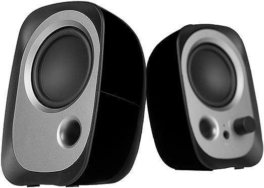 ZRN [G04] Altavoces para PC Bajos mejorados con sonido superior El subwoofer USB funciona con TV, computadoras portátiles, PC, Mac, iPhone, iPad, Samsung, HTC, tabletas y más Multimedia Speaker-Negro: Amazon.es: Hogar