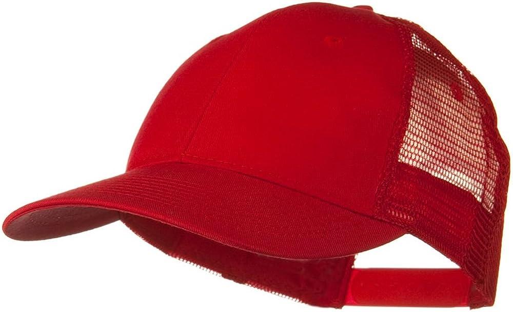 Black Solid Cotton Twill Low Profile Nylon Mesh Back Cap