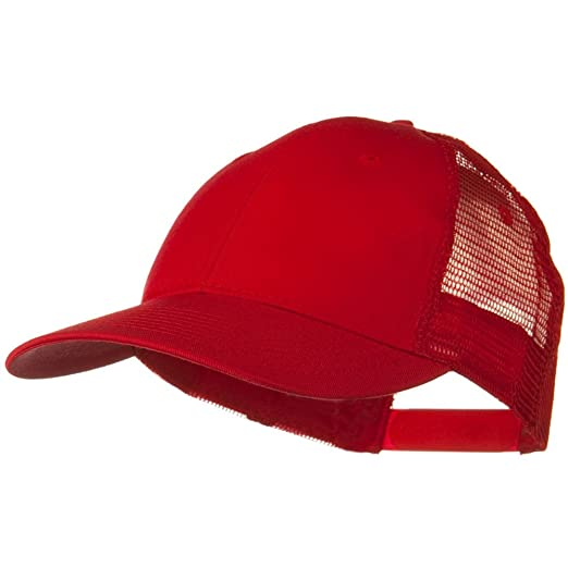 ab6b62fde2df1 Otto Caps Solid Cotton Twill Low Profile Nylon Mesh Back Cap - Red at Amazon  Women s Clothing store  Baseball Caps