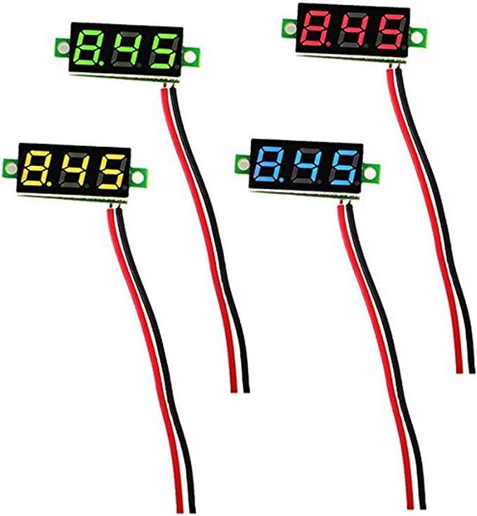 4 Stück 0 28 Zoll Mini Digital Voltmeter Led Anzeige Computer Zubehör