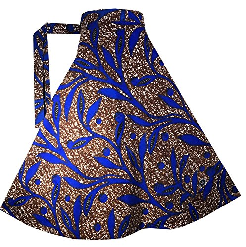 Decoraapparel Wrap Around Skirts African Wax Print Women's Flared Skirt Cotton Maxi Bright Colors by Decoraapparel