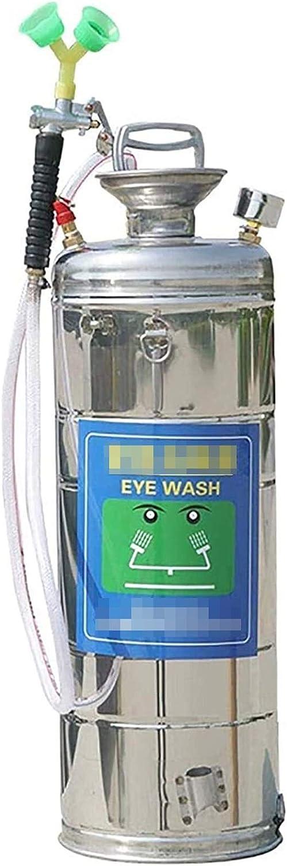 Estación Lavaojos de emergencia portátil de acero inoxidable, la presión del ojo Wash pulverizador for cualquier entorno multi-capa de filtro de pantalla peligroso está construido en la boquilla for f