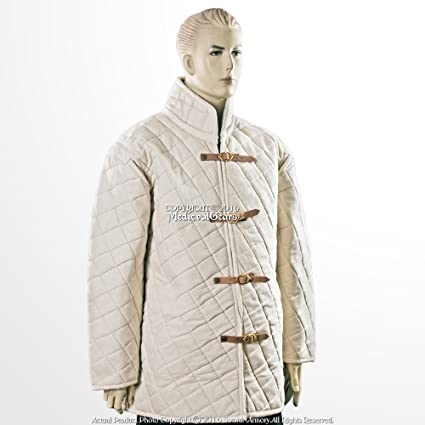 Medieval costumes Gambeson Thick padded Jacket dress coat Aketon Armor sca larp