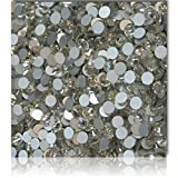 "100% Custom Made (Assorted) 1200 Bulk Pieces of Mini Size ""Glue-On"" Flatback Embellishments for Decorating, Made of Acrylic Resin w/ Shiny Iridescent Crafting Rhinestone Crystal White Style {Clear}"