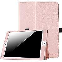 Fintie Funda para iPad 9.7 pulgadas 2017/iPad Air 2/iPad Air – [Protección de esquina] Premium PU piel Folio Smart Cover con apagado automático/encendido para iPad 9.7 en 2017 Release, iPad Air 1 2, Rosa (Glitter Pink)