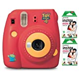 Fujifilm instax Mini 9 Instant Camera (Disney Toy Story 4 Edition) with Film Pack (20 Sheets) Bundle (2 Items) (Color: Toy Story)