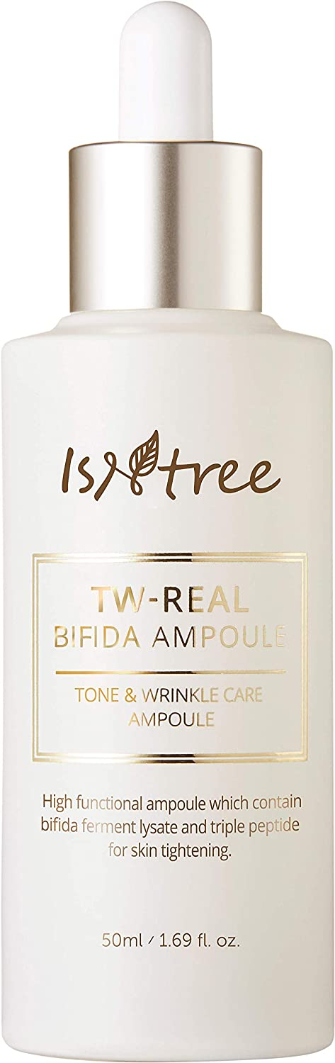 Isntree TW-Real BIFIDA Anti-Wrinkle Korean Face Collagen Ampoule 1.69 fl. oz. for Aging, Dry Skin Type - Reduce Fine Lines, Dull Spots, Wrinkle – Anti-aging, Hydrating, Moisturizing Ample Serum