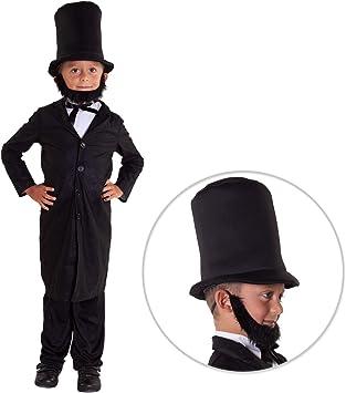 Morph Traje de Abraham Lincoln Traje político niños Americano - Grande - (11 - 13 años): Amazon.es: Juguetes y juegos