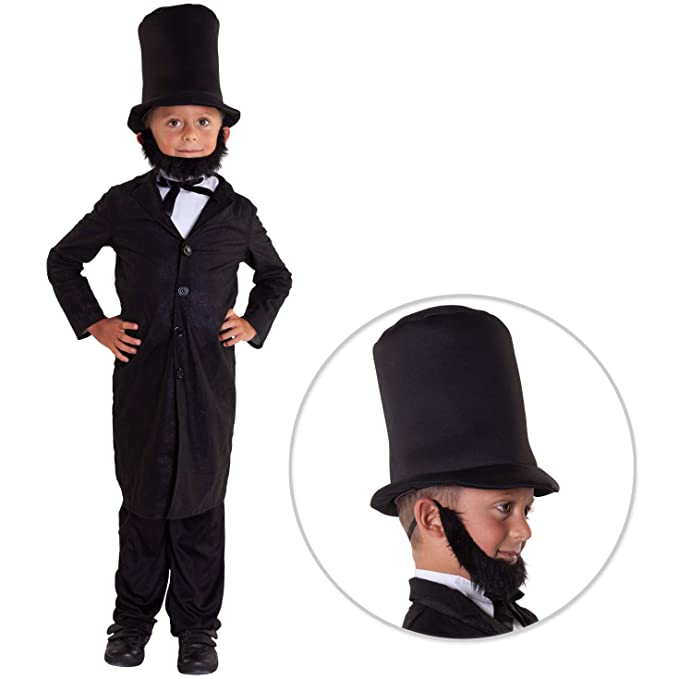 Amazon.com: Disfraz de Abraham Lincoln para niños de George ...