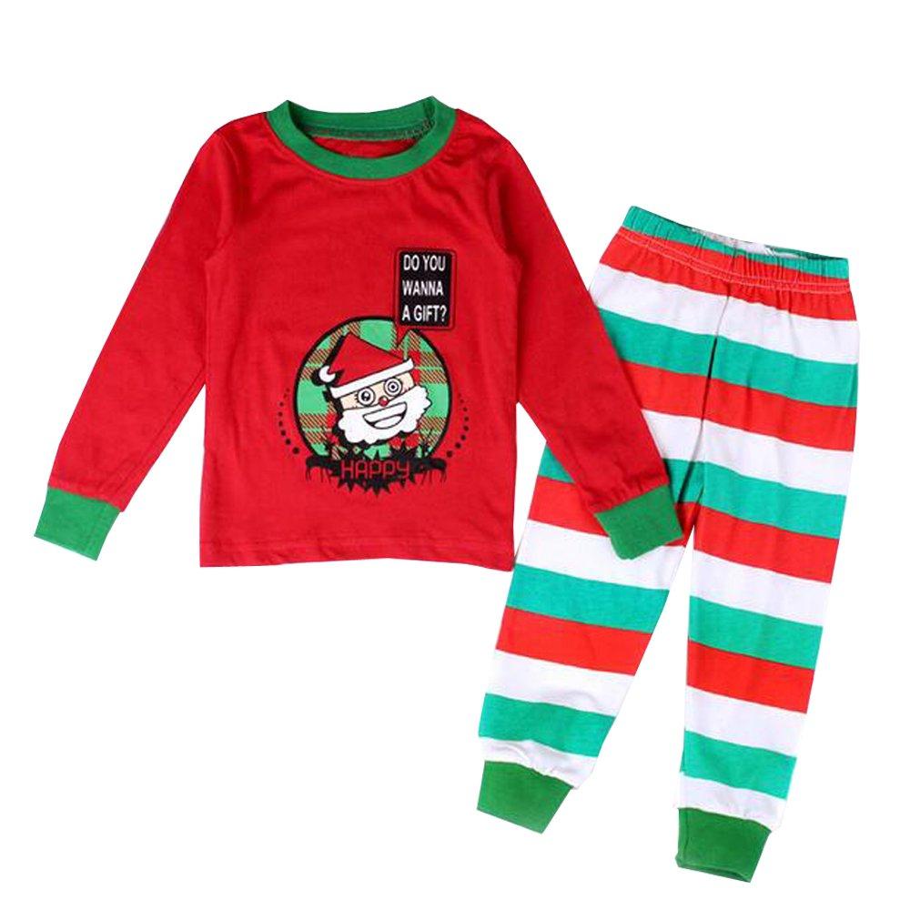 BOZEVON Chicas & Chicos Navidad Fiesta Infantil Santa Tutú Niños Ropa Nuevo Año Pijamas Conjuntos de Trajes