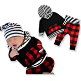 Newborn Baby Boy Girl 2pcs Outfit Long Sleeve...