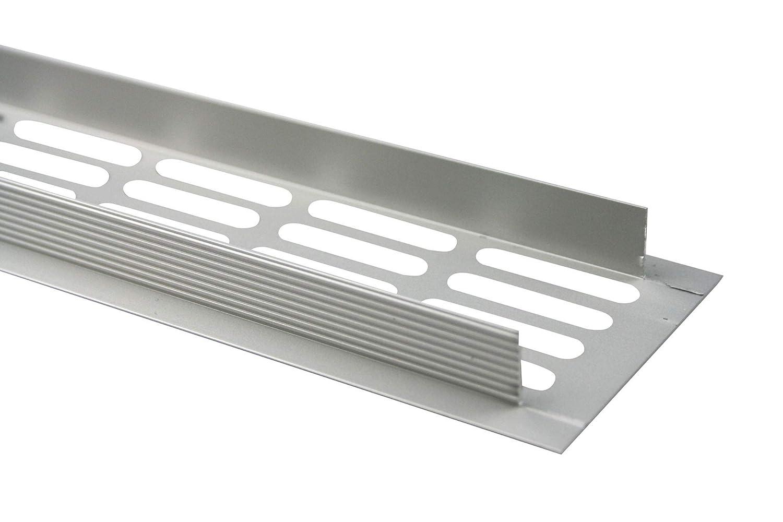 Edelstahl eloxiert - E6C13 MS Beschl/äge L/üftungsgitter Stegblech L/üftung aus Aluminium 60mm x 400mm in verschiedenen Farben