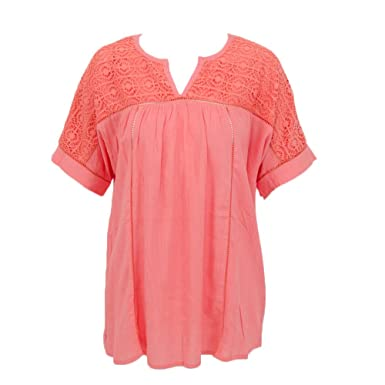 Amazon.com: Jade Women's 23C3343 Shirt Coral: Clothing