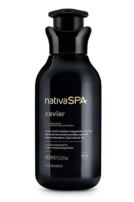 Nativa Spa Caviar Body Lotion by O Boticario | 30 Hours Of Hydration | Loção Hidratante | Fragranced Skin Moisturizer with Purified Quinoa Drops (13.5 fl oz)