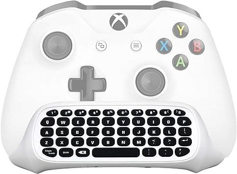 Megadream Xbox One Teclado inalámbrico con conector de audio de 3,5 mm para Microsoft Xbox