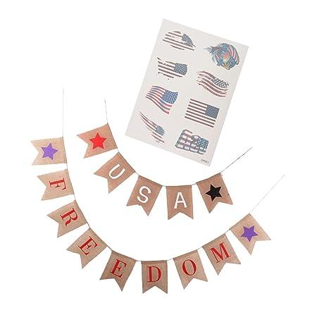 Homyl guirnalda Bandera Estados Unidos Estados Unidos Freedom con ...