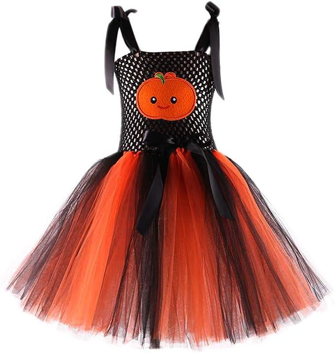 FELZ Vestido de tutú con Estampado de Halloween de Calabaza para ...