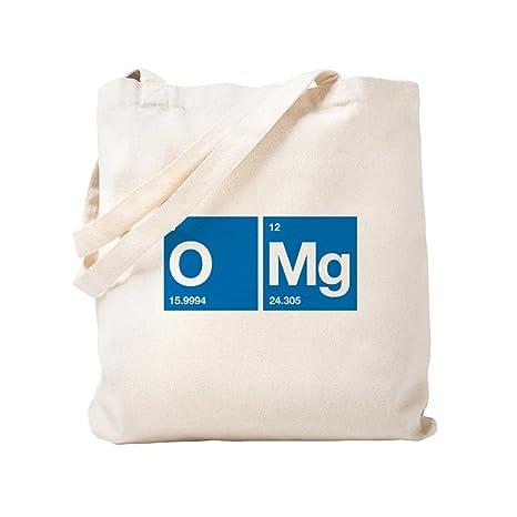 CafePress – oxígeno magnesio tabla periódica OMG – Gamuza de bolsa de lona bolsa, bolsa