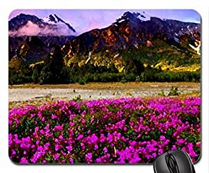 SPRING GLORY Mouse Pad, Mousepad (Fields Mouse Pad, Watercolor style)