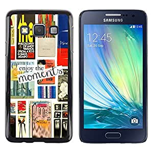 iKiki Tech / Estuche rígido - Books Reading Print Text Cover - Samsung Galaxy A3 SM-A300