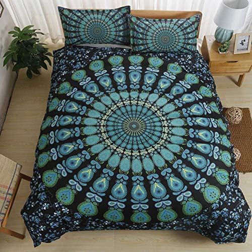 Boho Bedding Sets Polyester - Sport Do Brushed Reactive Printing 14 Beautiful Patterns NO FILLER Queen