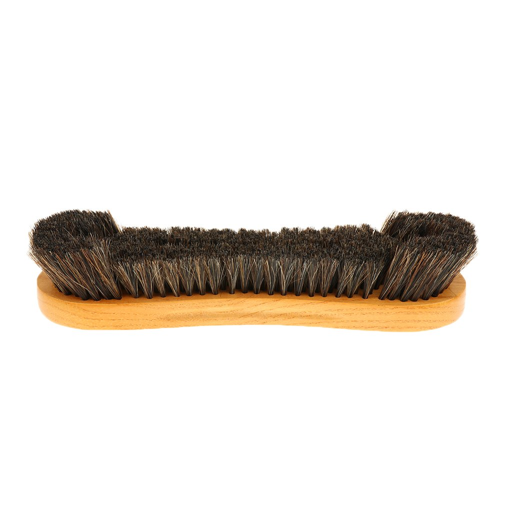 MagiDeal Cepillo de Limpiar de Mesa de Billar Americano de Pelo de Caballo Sintético con Manija de Madera