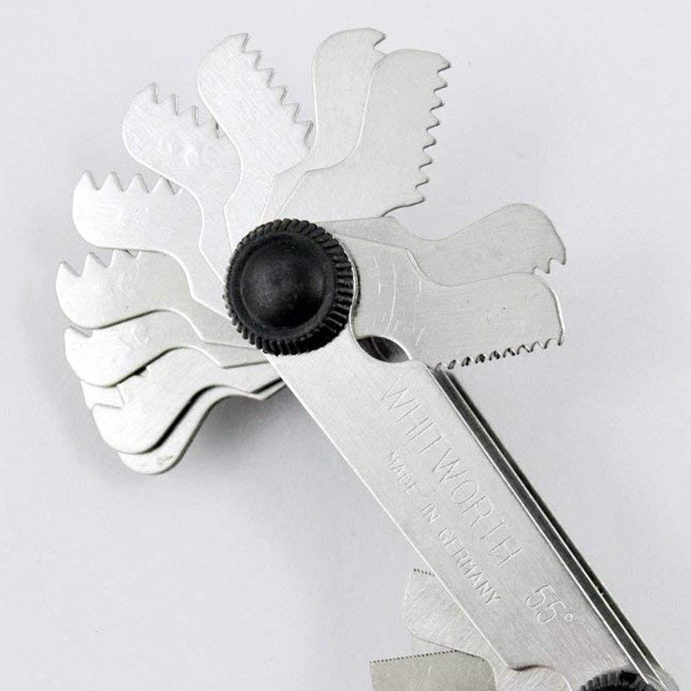 ZYCX123 SS Schraubengewindesteigung Schneidemesser-Werkzeug-Set-Center Gage 55 Grad Zoll-System und 60 Grad Metric-System