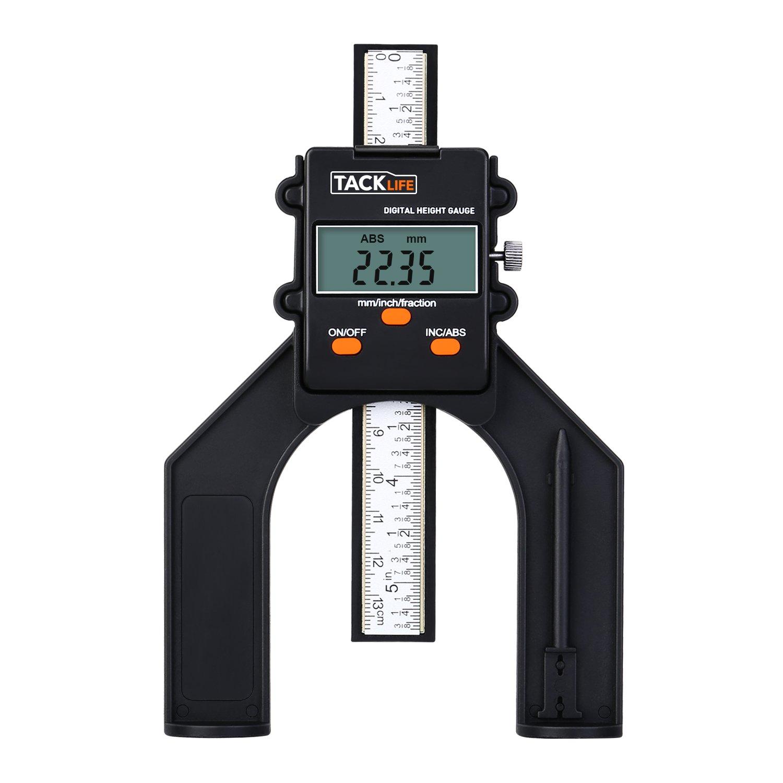 pollici Calibro digitale di profondit/à,/80/mm Tacklife MDG01 valore assoluto e relativo//mm frazioni//precisione /± 0,1/mm//risoluzione 0,05/mm//con asta di profondit/à//pi/ù di 2000/ore di uso