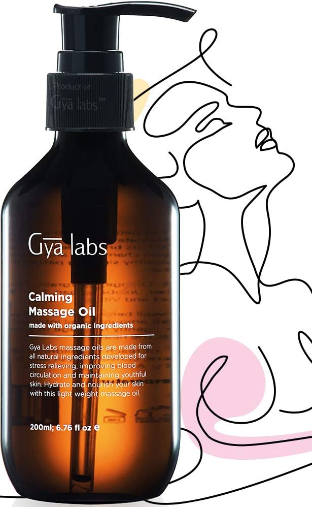 Aceite de masaje calmante (6,76 fl oz / 200 ml) Aromaterapia natural para la piel Relajación muscular y fortalecimiento del cuerpo Tejidos profundos Uso doméstico - Laboratorios Gya