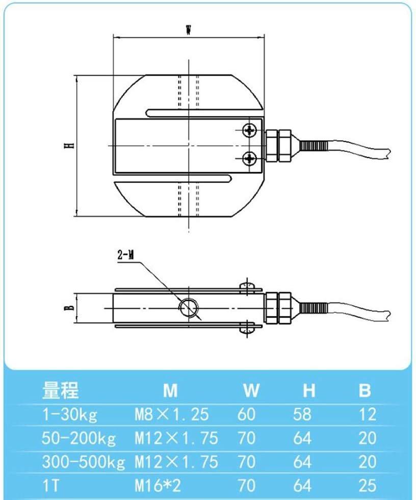 Cvthfyk S-type Pull Pressure Sensor S-type Sensor Load Cell Mixing Station Dedicated Sensor Color, Size : 1T