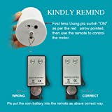 FONMY Hanging Display Motor with Remote for Wind