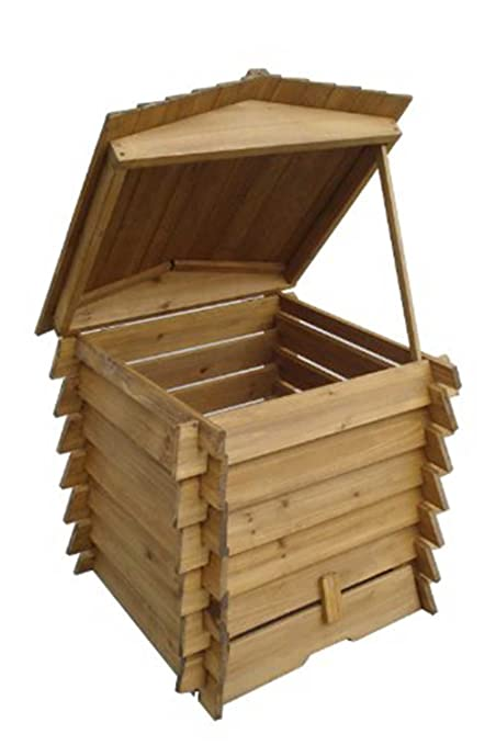 Amazon.com: Compostador de madera 328L en Beehive estilo 337 ...