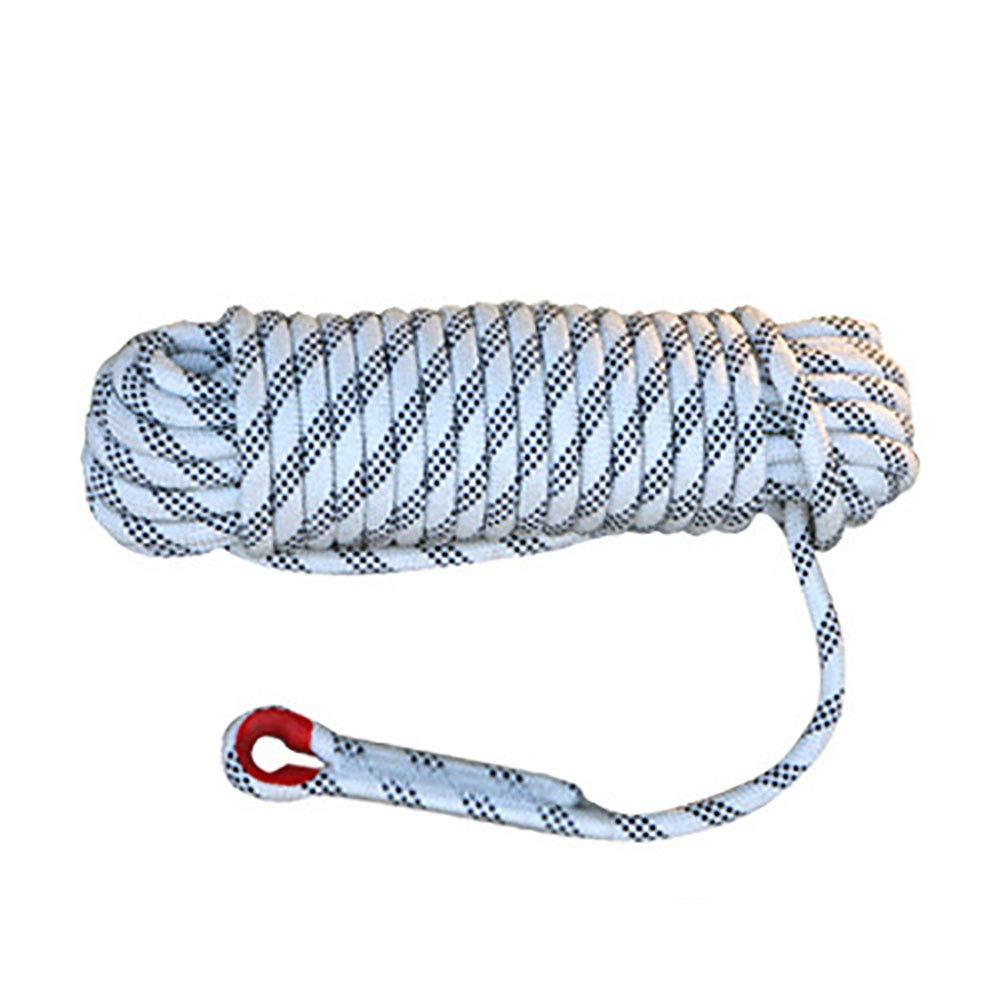 FYrainbow Corde d'escalade, évasion extérieure de feu, Parachute de Sauvetage, diamètre de Corde intérieur Statique 10mm, sûr et Durable, 10, 15, 20, 30, 40, 50 mètres,50M 15M