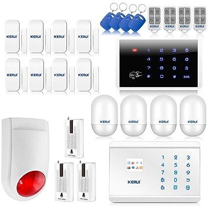 KERUI – 8218 G kit de alarma de hogar telefónica inalámbrica GSM PSTN/RTC llamada