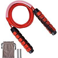 Queta Speed Rope Springtouw, met kogellagers voor kinderen en volwassenen, lengte instelbaar, anti-slip handgrepen…