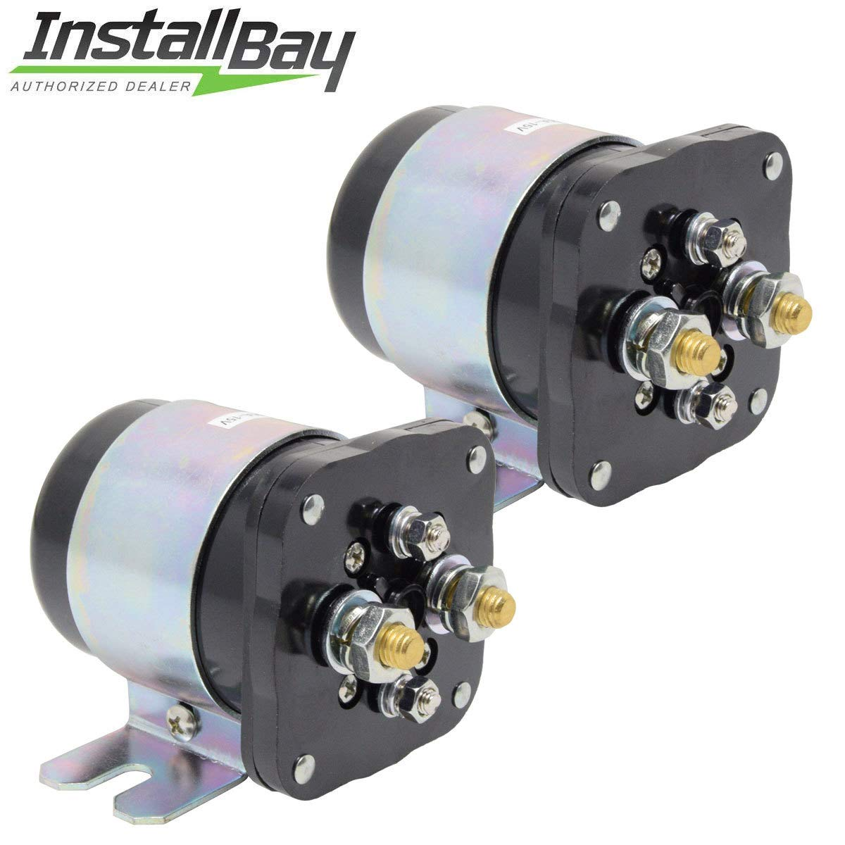 Install Bay 2-Pcs Power Relay Battery Isolator 500 Amp High Current 12V Metra