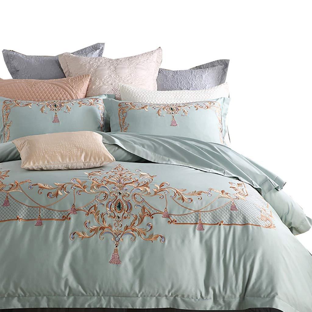 寝具カバーセット ベッドライニング4/6個セット掛け布団カバーベッドシーツ枕カバークッションカバー小さな枕掛け布団カバーベッドセットベッドでベッド (色 : 6 piece set, サイズ さいず : 1.5M bed) B07MNP5MN9 6 piece set 1.5M bed