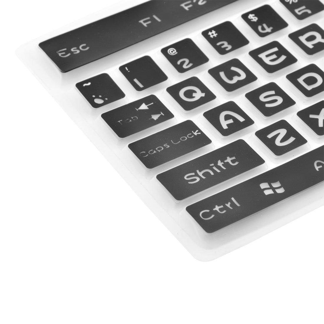 Amazon.com: eDealMax silicona computadora de escritorio plegable lavable teclado Film Protector de la cubierta Negro: Electronics